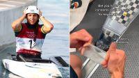 Reparó su kayak con un preservativo y ganó la medalla de bronce en Tokio