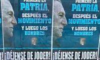 """""""¡Déjense de joder!"""", el mensaje que apareció en las calles para Alberto y Cristina"""