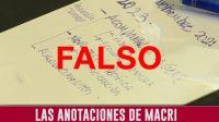 Fake news: las anotaciones virales con errores ortográficos no son de Macri
