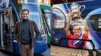 Homenaje para Roger Federer: inauguraron un tranvía que lleva su nombre
