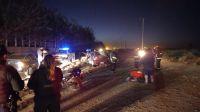 Noche trágica: En un vuelco murió un hombre y cuatro resultaron heridos