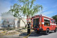 Las llamas envolvieron la sede del Caina de barrio Alfonsina Storni