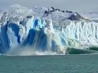 Mirá el impresionante desprendimiento de base en el Glaciar Perito Moreno