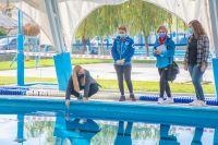 Así quedó el natatorio municipal con los ajustes para el inicio de actividades de invierno
