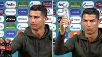 """""""Agua, Coca-cola no"""", pidió Ronaldo en rueda de prensa: la marca sufrió millonarias pérdidas"""